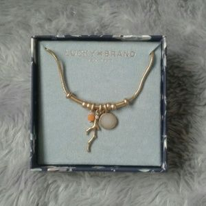 Lucky Brand Charm Necklace NIB